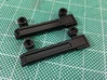 AJ10004 Rear Door Hinges (SCX10) 3d printed Parts show painted black with Tamiya TS spray