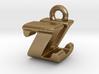 3D Monogram - ZUF1 3d printed