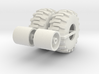 1:64 scale Back hoe Tire And Wheel Assy 3d printed