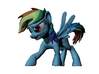 My Little Pony Rainbow Dash Refracted Collectable  3d printed
