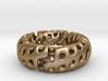 Zig-Zag Torus Knot (17.7mm diameter, ~US size 7.5) 3d printed