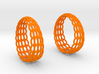 Wired Beauty 5 Hoop Earrings 30mm 3d printed