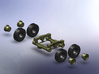 Faun SLT 50 Elefant 1:160 3d printed Assembly wheels