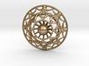 Mandala Flux Pendant 3d printed