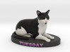 Custom Cat Figurine - Tuesday 3d printed