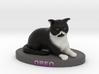 Custom Cat Figurine - Oreo 3d printed
