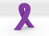 Standing Cancer Ribbon - Relay for Life 30 Years 3d printed