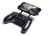 PS4 controller & BLU Life One M 3d printed Front View - A Samsung Galaxy S3 and a black PS4 controller