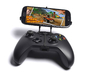 Xbox One controller & XOLO Q700s plus 3d printed Front View - A Samsung Galaxy S3 and a black Xbox One controller