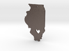 I heart Illinois Pendant 3d printed