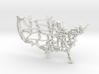 United States Highway Map Pendant  3d printed