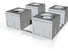 HO-Scale Concrete Electrical Box (4 Pack) 3d printed