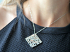 Boxed Floral - Pendant Necklace 3d printed polished silver / Get Bli
