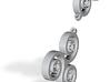 Triskell Earrings 3d printed