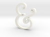 Acrylic Ampersand 3d printed