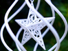 Christmas Tree Ornament (Bauble) - Spinning Star 3d printed Detail photo