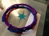Plastic twist wrist band (M) 3d printed blue red and purple