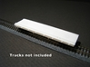 N Scale (Nn3) Low Profile 30' Flat w/ Rails 3d printed