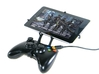 Xbox 360 controller & Asus Memo Pad 7 ME572CL 3d printed Front View - A Nexus 7 and a black Xbox 360 controller