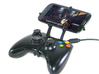 Xbox 360 controller & HTC P6300 3d printed Front View - A Samsung Galaxy S3 and a black Xbox 360 controller