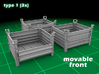 Stackable Container Type1 (3x) 3d printed Container type 1 - 3-pack