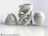 DNA Egg Cup Sculpture 3d printed The Columbus' Egg could eventually be balanced on its slightly flattened top :-)