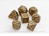 Dragon Dice Set 3d printed Stainless Steel