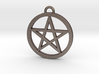 Pentacle Pendant / Keychain 3cm 3d printed