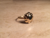 Diamond Ring US Size 7 UK Size O 3d printed Gold Plated Brass