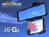 GPXtand - Universal Mobile and GPS Car Holder 3d printed GPXtand with LG G3 - WITH OR WITHOUT CASE!
