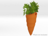 Carrot Themed Necklace and Micro Plant Pot 3d printed Choose Orange for a more traditional feel!