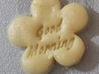 Good Morning Flower - Cookie cutter 3d printed Cookie baked with the cutter