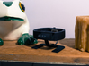 Microsoft Band Charging Stand 3d printed On my bedside shelf.