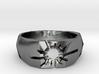 Neotokyo ring: size 8 (US) Q (UK) 3d printed