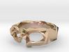 Polygonal skull ring: size 10 (US) U (US) 3d printed