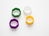 Poly7 Ring, Size US5 3d printed Poly7 Ring in multiple colors