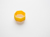 Poly7 Ring, Size US5 3d printed Poly7 Ring in Yellow Strong & Flexible
