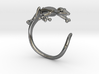 Gekko Wraparound Ring 3d printed