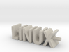 Linux Text Desk Ornament 3d printed