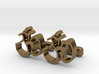 "Ohm Symbol Cufflinks, Part of ""Spirit"" Collection 3d printed"