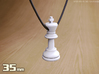 PENDANT :  CHESS KING (small - 35mm) 3d printed