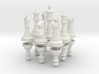 StauntonChessSet OneSide Joined 3d printed