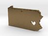I love Pennsylvania Pendant 3d printed