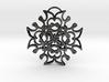 Tilted Loops Pendant 3d printed
