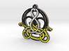 Swans Celtic Knotwork Pendant 3d printed