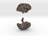 Brain Cufflinks (Two Hemispheres) 3d printed