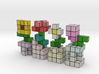 VOXEL FLOWER DECORATION SET 3d printed