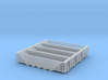 Five Bay Rapid Discharge Hopper - Set of 4 - Zscal 3d printed