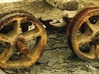 Slab Wagon Double-Flanged Wheels and Axleboxes 3d printed