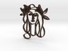 Lady portrait pendant 3d printed